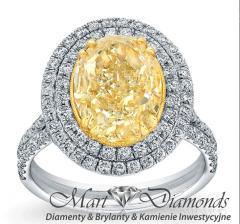 Pierścionek z złota białego z diamentam