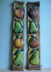 Płaskorzeźba Owoce