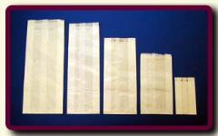 Torebki papierowe fałdowe; materiał papier