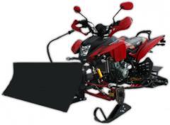 Quad z pługiem śnieżnym ATV Bashan 250 Snowmobil