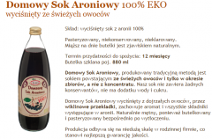 Domowy Sok Aroniowy 100%