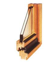 Okna drewniane typu EURO
