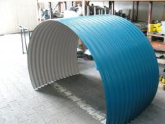 Spooling machine for sheet metal