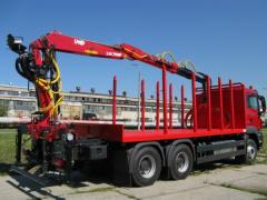 Trailers and semitrailers for wood sortments