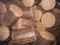 Wood briquettes and firewood