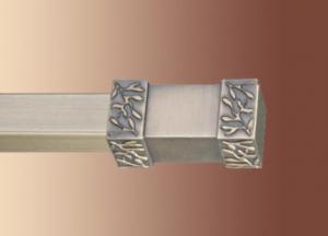 Karnisz metalowy kwadro pojedynczy srebrny