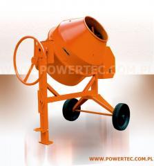 BETONIARKA POWER TEC 220L/230V/L (przechył na koło) - Zaawansowane betoniarki o zwiększonej wytrzymałości.