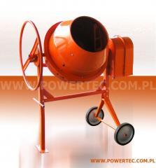 BETONIARKA POWER TEC 160L/230V/O - Ekonomiczna i wytrzymała betoniarka do prac pół-profesjonalnych.