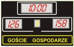 Tablica szkolna TS1 o wymiarach: 170 x 125 x 8cm; wysokość znaków: 24 i 16 cm