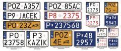 Tablice rejestracyjne do samochodów osobowych i