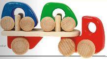 Samochody zabawkowe drewniane