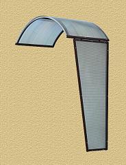 Zadaszenie boczne aluminiowo - poliwęglanowe