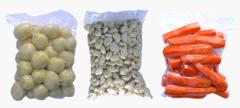 Warzywa pakowane próżniowo (ziemniaki, czosnek,