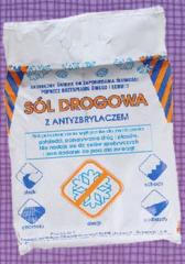 Sól drogowa z antyzbrylaczem