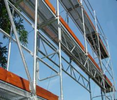 Zinc-coated frame scaffoldings