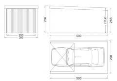 Garaże samochodowe jednospadowe ocynkowane