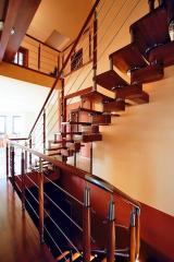 Balustrada drewno - metal MDM