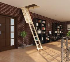 Les escaliers de grenier