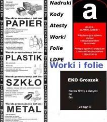 Worki i folie LDPE, opakowania foliowe, opakowania