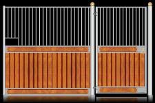 Fasady stajenne z drzwiami otwieranymi na