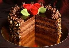 Elegancki tort czekoladowy