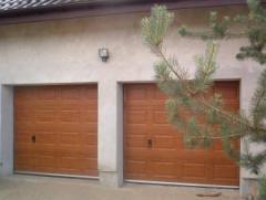 Brama garażowa segmentowa złoty dąb