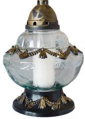 Znicze szklane z wkładem