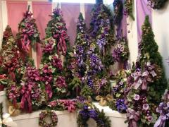 Choinki sztuczne dekorowane