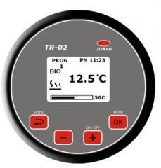 Mikroprocesorowy regulator temperatury grzałek z zabezpieczeniem przed zamarzaniem i funkcją czyszczenia zbiornika z bakterii.