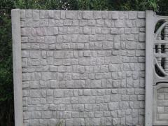 Ogrodzenia betonowe. Składa się z słupka, oraz 3