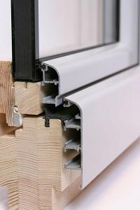 Okno aluminiowo-drewniane GEMINI