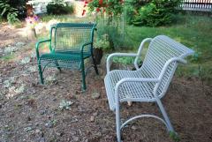 Fotel  metalowo kratowy GLOB 2