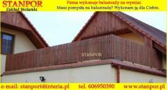 Drewniane balustrady balkonowe i tarasowe, poręcze