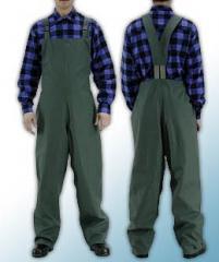 Spodnie ogrodniczki PU