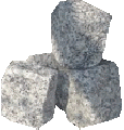 Kostka granitowa w różnych rozmiarach i kolorach.