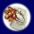 Pierścionki srebrne z bursztynem