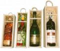 Drewniane skrzynki na jedną lub dwie butelki