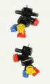 Oprawa rozpylacza potrójna przelotowa na śrubę M6