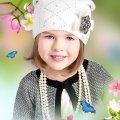 Wiosenne czapki dla dzieci i niemowląt