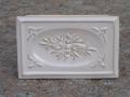 Kafel szkliwiony środkowy biały ze wzorem