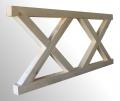 Drewniane elementy ogrodzenia typ X
