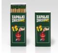 Zapałki do zniczy i świec ZZ-15/86.