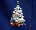 Ozdoby na świąteczny stół szklane kształt choinki