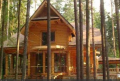 Dom drewniany  z bali okrągłych