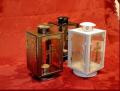 Lampiony nagrobne z wkładami bezdymnymi, odporne na warunki atmosferyczne