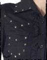 Koszula damska czarna nitowana