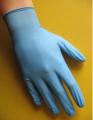 Rękawice nitrylowe bezpudrowe, niebieskie roz. L