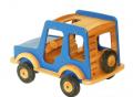Niebieski samochód terenowy