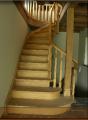 Schody spiralne drewniane