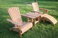 Fotele drewniane dla turystyki